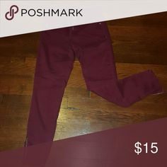Maroon pants Cute maroon pants with zippers on the sides. :) Forever 21 Pants Straight Leg