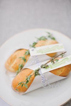 baguette escort card favors | Harwell Photography #wedding