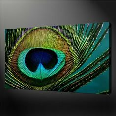 Wall Art Painting Pictures Print On Canvas Turquoise Peacock Stunning Contemporary Design Art The Picture For Home Modern Decor...