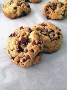 Roasted Walnut Oil Chocolate Chip Cookies via In My Yellow Cardigan