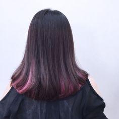 ロブ×ピンクインナーカラー