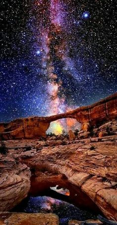 Milky way over Utah USA