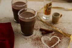 Mexican Boozy Hot Chocolate For Two Recipe for Mexican Boozy Hot Chocolate for two- a hot chocolate can only taste better when spiked with a shot of something. A special dinner should end on a high note with this spiked hot chocolate.