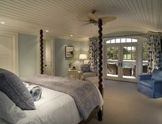 Shingle Style home on Golf Course - eclectic - bedroom - charleston - Christopher A Rose AIA, ASID