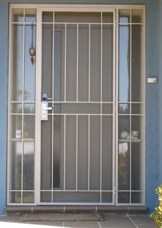 Aluminum Security Screen Door storm door painted to match front door. | security door, screen