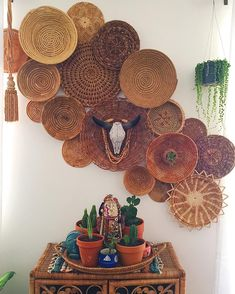 "1,569 Likes, 60 Comments - The Bohemian Flea Market (@thebohemianfleamarket) on Instagram: ""Did a little rearranging of the wall basket collection. What are you up to this Saturday? """