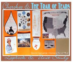 Complete Trail of Tears Lapbook. Free lapbook and unit study for homeschoolers on the Cherokee and the terrible tragedy of The Trail of Tears.