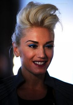 28d13c4563b Gwen Stefani Hair faux hawk ish pouf bouffant teased high volume straight Gwen  Stefani Hair
