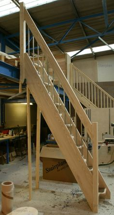 Conversion Loft Staircases See deck railing ideas at http://awoodrailing.com