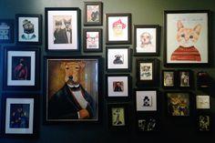 Fancy Animal Gallery Wall