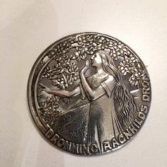 Gustav Gaudernack design for own workshop. Silver brooch with motif from viking saga (The dream of queen Ragnhild). Silver Brooch, Saga, Vikings, Workshop, Queen, Models, Design, Role Models, Atelier