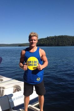 Gabriel Landeskog wearing possibly the best shirt ever!