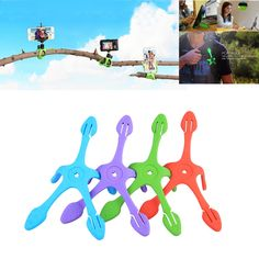 Gekkopod Mini Tripod Mount Portable Flexible Stand/Holder for i Phone Gopro xiaomi yi Sj4000 JCAM 5000 Sports Camera Accessories
