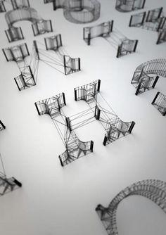 Wire Typography_ England | Dan Hoopert