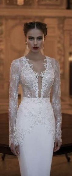#Gorgeous Gown - But do you really want men thinking about having sex with your new bride. A bridal gown should not look like lingerie. Please wear a decent gown.