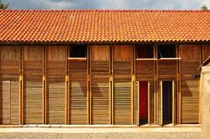 Built by Orkidstudio in Nakuru, Kenya with date Images by Odysseas Mourtzouchos. Built with a diverse group from a small Kikuyu community in the rapidly developing agricultural outskirts of Nakuru, . Architecture Design, Timber Architecture, Sustainable Architecture, Sustainable Design, Contemporary Architecture, Museum Of Design Atlanta, Francis Kere, Residential Building Design, Wooden House