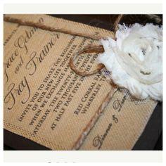 Perfect rustic but feminin wedding invites