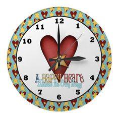 A Happy Heart wall clock