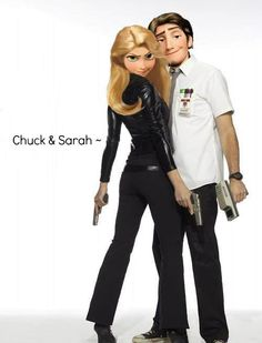 Chuck and Sarah Tangled Oh this makes me happy!!! Good to know their are still nerd-herders out there!