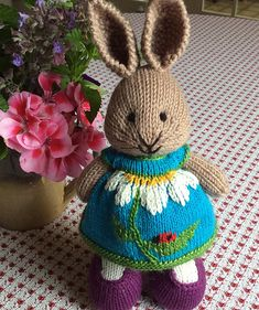 Ravelry: Project Gallery for Seasonal dresses Pattern pattern by little cotton rabbits, Julie Williams Knit Or Crochet, Crochet Dolls, Knitted Dolls, Crochet Hats, Knitting Projects, Knitting For Kids, Baby Knitting, Knitting Toys, Layette