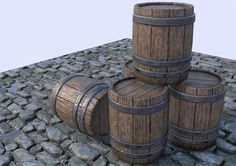 Barrel - PBR Practice, Baiquni Abdillah on ArtStation at https://www.artstation.com/artwork/q0dYe