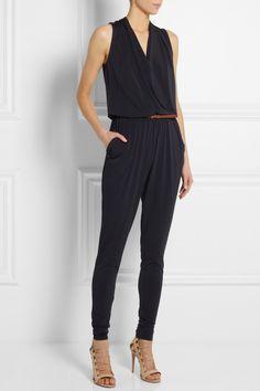 MICHAEL Michael Kors|Wrap-front stretch-jersey jumpsuit|NET-A-PORTER.COM