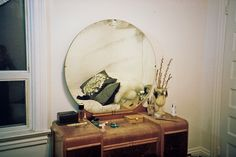 I THINK I'D WEAR MORE GLAMOROUS MAKEUP IF I HAD A VANITY LIKE THIS.