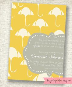cute invite for a baby sprinkle for second child baby number
