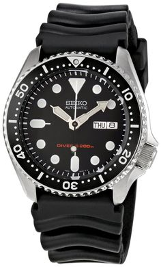 Seiko Men's SKX007K Diver's Automatic Watch. Nice, basic divers watch. Often the first mechanical watch enthusiasts get. $200.