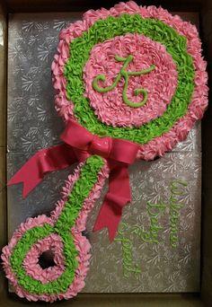 Baby Shower Rattle Cupcake Cake