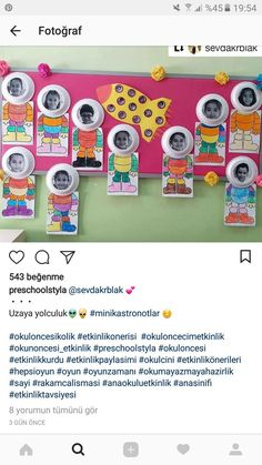 ... Kindergarten Crafts, Preschool Learning, Preschool Crafts, Red Classroom, Classroom Crafts, Class Decoration, School Decorations, Space Crafts For Kids, Art For Kids