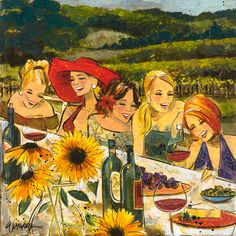 This reminds me of Flora Fields.  Kathy Womack - Women  Wine Series