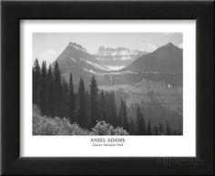 Glacier National Park Prints by Ansel Adams at AllPosters.com