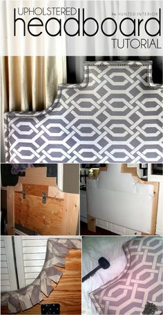 Stylish Upholstered Headboard with Accent Nail Head Trim - 78 Superb DIY Headboard Ideas for Your Beautiful Room - Page 3 of 8 - DIY & Crafts Headboard Redo, Headboards For Beds, Headboard Ideas, Cheap Headboards, Rustic Bedding, Diy Furniture Projects, Decoration, Bedroom Decor, Nail Head