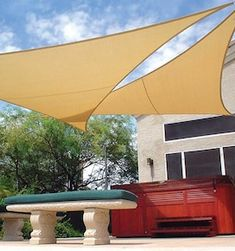 Sun Shade Sail Patio Garden Awning Sunscreen Canopy 98 UV Block Triangle for sale online Garage Pergola, Pergola Swing, Pergola With Roof, Covered Pergola, Backyard Pergola, Pergola Shade, Pergola Plans, Pergola Kits, Pergola Ideas