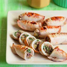 Grilled Malunggay Stuffed Squid | Yummy.ph