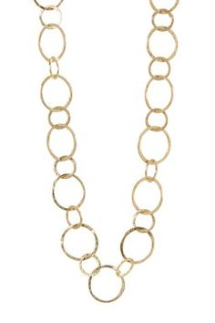 Multi Round Link Necklace