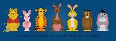 Winnie the Pooh Movie Characters- Digital PDF Cross Stitch Pattern