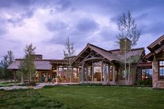 Wyoming Residence Exterior View by Locati Architects, Photography by Roger Wade Studio, Jackson Hole, Wyoming.