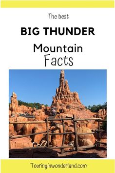 """Big Thunder Mountain is one of the famous """"mountains"""" of Disney World. Find out the cool Big Thunder Mountain secrets most people don't know. Walt Disney World Rides, Disney World Attractions, Disney World Vacation, Disney Cruise, Disney Vacations, Disney On A Budget, Disney World Planning, Fall Trail Mix Recipe, Graduation Party Games"""