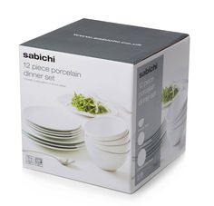 12pc Porcelain Dinner Set NOW £14.40 Simple yet stylish our porcelain serve ware is ideal for entertaining.