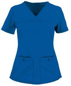 Cherokee Flexibles Scrubs Sporty V-Neck Top - XS - Galaxy Blue Cherokee Scrub Pants, Cherokee Scrubs, Scrubs Outfit, Scrubs Uniform, Stylish Scrubs, Flare Leg Pants, Scrub Tops, Custom Clothes, Kids
