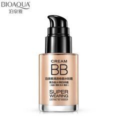 BIOAQUA Marca Base de Maquillaje Cara Líquido Fundación Para Blanquear Hidratante Cosméticos A Prueba de agua de control de Aceite Corrector BB Cream 30 ml