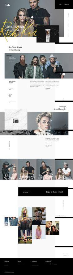 IGK Hair #web #design