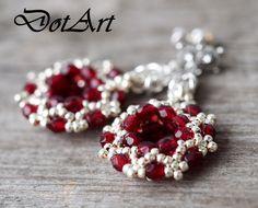 Dorota Walentyn- Goral, #DotArt, #earrings, #beading, #toho, #chainmaille, #polandhandmade, polandhandmade.pl