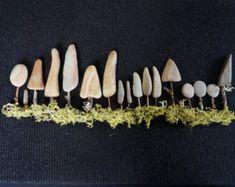 FORÊT et les arbres - Pebble Art, forêt, Nature, Original, naturel trouvé plage pierres, boîte d'ombre, arbor, Art pariétal, Pacifique