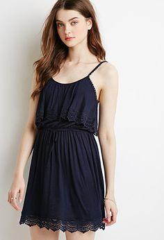 $23 Crochet-Trimmed Flounce Dress | Forever 21 - 2000154422