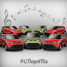 On the 7th day with Kia my true love gave to me... 7 Souls a singing. #12DaysofKia #KiaSoul