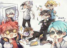 anime, v, and jumin image