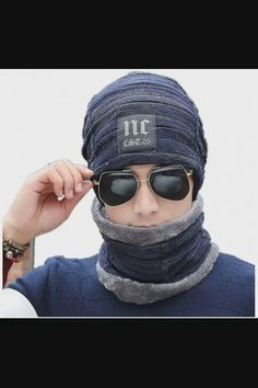Shop Winter Beanie Hat Scarf Set Wool Warm Knit Hat Slouchy Warm Snow Thick Skull Cap for Men Women - Nc Navy now save up 50% off, free shipping worldwide and free gift, Support wholesale quotation! Beanie Hats, Slouchy Beanie, Beanies, Hat And Scarf Sets, Hat For Man, Winter Hats For Women, Knitted Gloves, Mens Caps, Womens Scarves